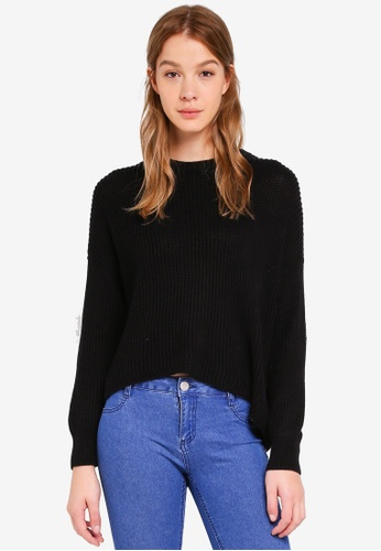 Cotton On black Archy Cropped Pullover A0CE1AA4CDD870GS_1