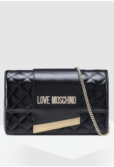 Love Moschino black Quilted Chain Sling Bag C7FF1ACAF2A006GS 1 35eec806ec4bb