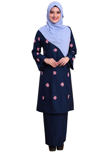 Kurung Happy 04 from Hijrah Couture in Blue