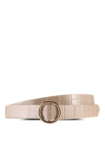 Rubi brown Roundabout Buckle Belt 4C0DCACC8B64BAGS_1