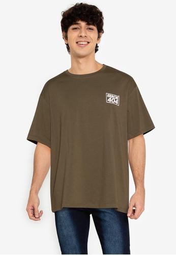 ZALORA BASICS green Error 404 T-Shirt 149ECAA4986B0FGS_1