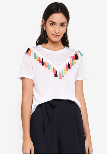 ONLY white Pami Tassel Top 6A8D1AA1F01902GS_1
