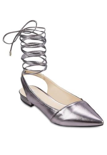 esprit 見工纏繞繫帶尖頭平底鞋, 女鞋, 芭蕾平底鞋