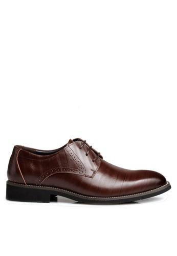 Twenty Eight Shoes 褐色 牛皮英倫風沖花牛津鞋  VMF2538 3DF25SH9DCDC30GS_1