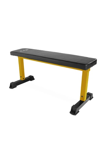 CAP Barbell black and yellow CAP Barbell Flat Utility Weight Bench Yellow 62603SE62D2269GS_1