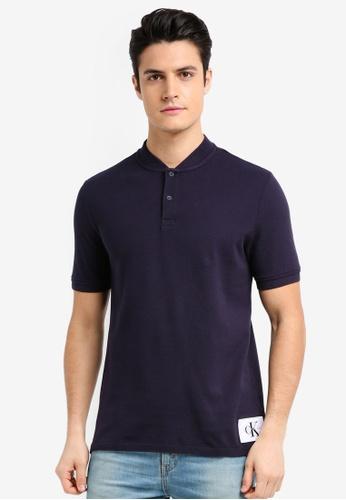 Calvin Klein navy A-Primo 2 Regular Short Sleeve Polo Shirt - Calvin Klein Jeans 021BFAAD7CFC49GS_1