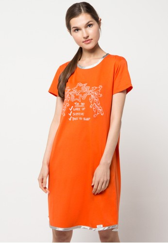 Puppy orange Dress Doodle Hipster Ii PU643AA35LWIID_1