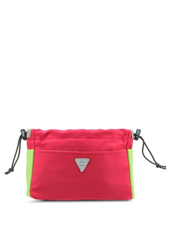 Bagstationz pink Colour Block Lightweight And Water-Resistant Bag In Bag Organizer 01474AC1309B4CGS_1
