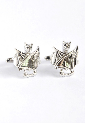 Splice Cufflinks Closed Wings Black Crystal Eyes Bat Cufflinks SP744AC06XYZSG_1