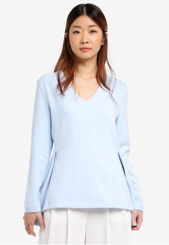 Selected Femme blue Emma Long Sleeve Top FA3FFAAA32F88BGS_1