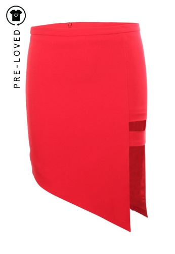 Mason By Michelle Mason red Pre-Loved mason by michelle mason Red Cut Out Skirt 8A92CAA55F9915GS_1