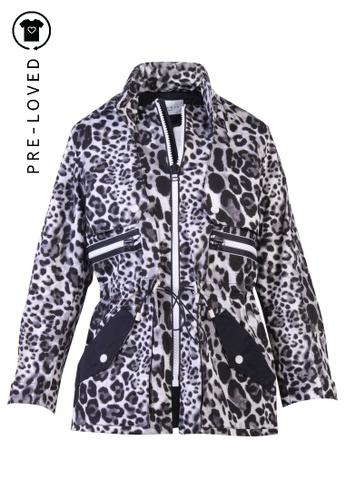 Sandro grey Pre-Loved sandro paris Grey Leopard Print Jacket E6D8EAA6B5003EGS_1