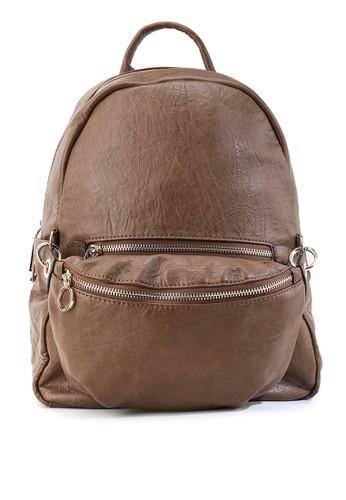 HUER brown Veliya 2 in 1 Light Weight Backpack B5668ACF955548GS_1