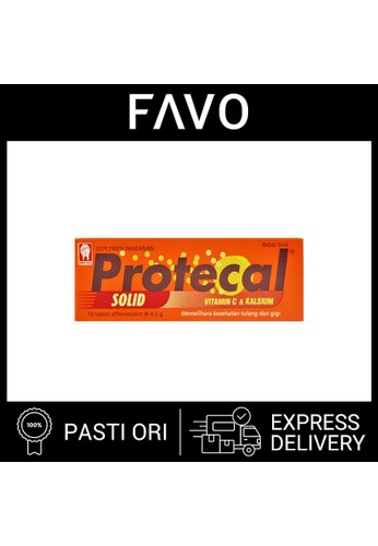 Protecal Protecal Solid - 10 Tablet Mengandung Vitamin C & Kalsium A275FES935163BGS_1