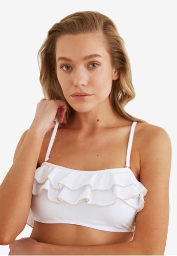 Trendyol white White Swimwear Top 0CEB2US131D3FBGS_1
