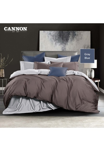 CANNON CANNON Morrison Bronetta - Gray Blue (Fitted Sheet Set). 5CF82HL27FBF09GS_1