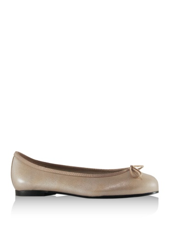 Covet silver French Sole Henrietta Ballet Flats CO331SH88YJFPH_1