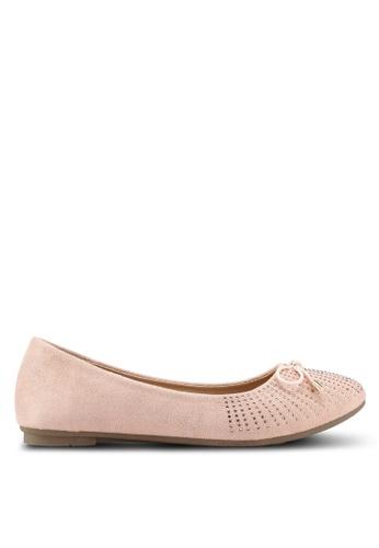 Bata 粉紅色 麂皮鑽飾平底鞋 5473ESHBF71195GS_1