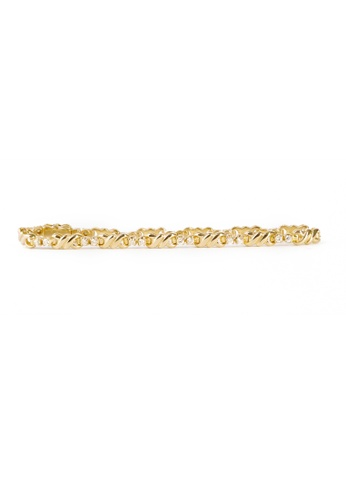 CEBUANA LHUILLIER JEWELRY gold 14 Karat Yellow Gold Bracelet With Diamonds 1A48AAC5C8F2E4GS_1