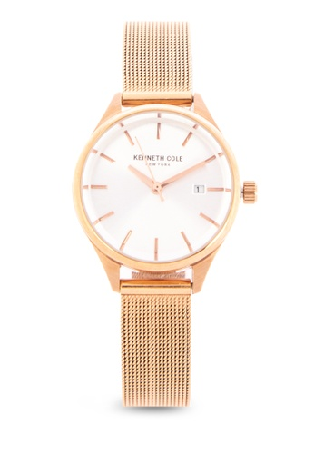 Kenneth Cole gold Women s Stainless Steel Mesh Analog Watch  8795EACC14DCA1GS 1 36dc15fc1