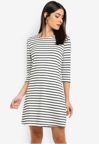 ONLY white Brilliant 3/4 Dress 512B6AA494E495GS_1