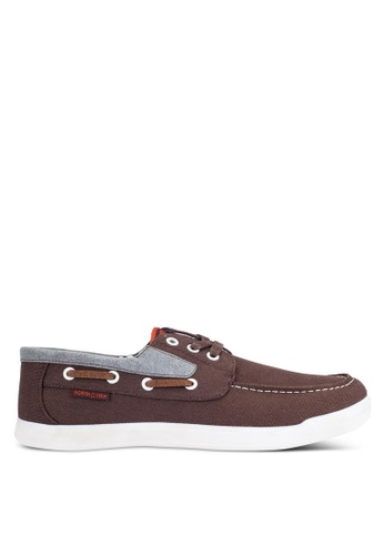 North Star brown Canvas Boat Shoes NO159SH0RCZAMY_1