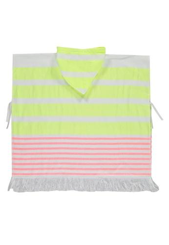 LC Waikiki yellow Striped Poncho Towel 2AB06KC6F6474DGS_1