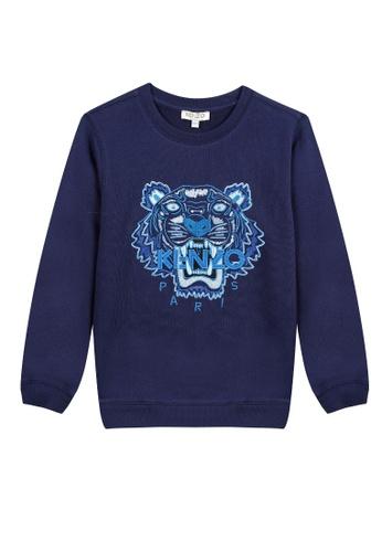 KENZO KIDS blue KENZO TIGER BOYS SWEATSHIRT F1FA1KA36BA7ACGS_1