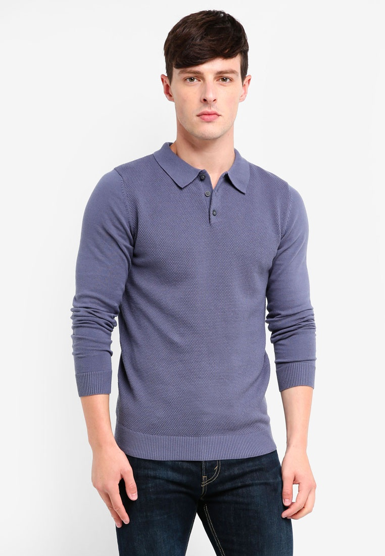 Grisaille Knit Roberto Jones Polo Jack Shirt amp; 7014qBw