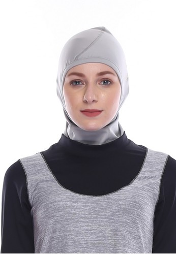 Tiento grey Tiento Hijab Sport Grey Jilbab Kerudung Olahraga 6BB0FAAC72617EGS_1