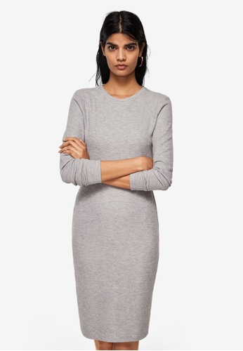Mango grey Fitted Dress 99CB2AAD92807CGS_1