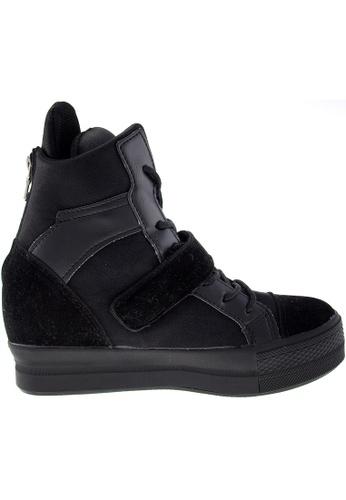 Maxstar black Maxstar Women's C2 Velcro Hidden Heel Suede High Top Sneakers US Women Size MA164SH84PYTSG_1