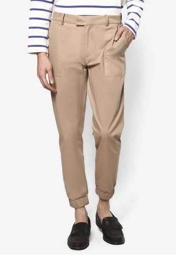 基本款 Velcro 口袋慢跑褲, 服飾, esprit 會員長褲