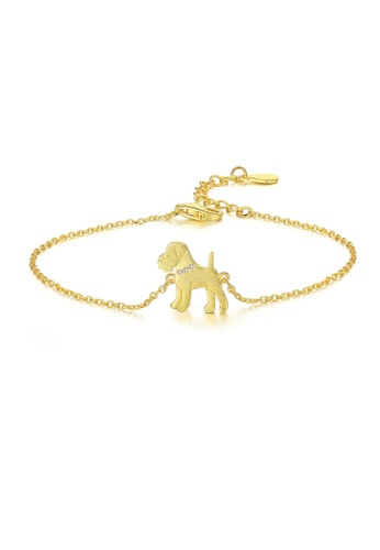 SUNRAIS gold Premium Silver S925 golden puppy bracelet 9D300AC82F08B6GS_1