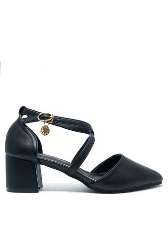 Twenty Eight Shoes 黑色 甜美尖頭中踭鞋T546-151 5A8FFSH046DFB6GS_1