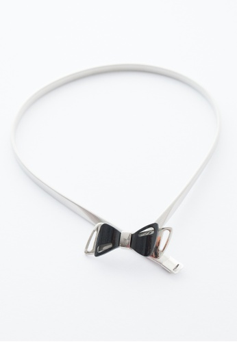 EDZ silver Saidah Metal Spring Belt in Silver ED756AC40YXFMY_1