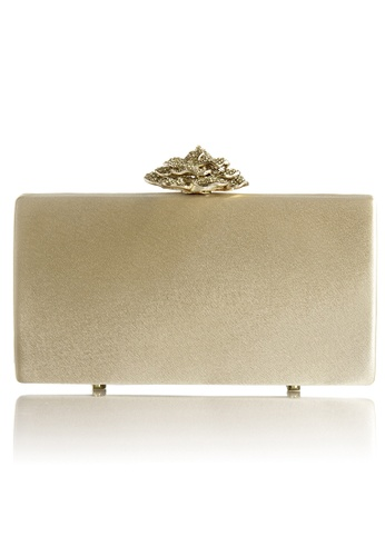 The Chic Initiative gold Leighton Satin Rose Clutch (Gold) TH778AC0T0OLMY_1