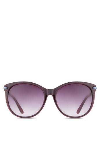 NUVEAU esprit門市立體紋理圓框太陽眼鏡, 飾品配件, 圓框