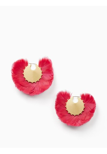 Kate Spade multi In Full Feather Hoops CCDC0AC5831155GS_1