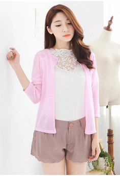 [IMPORTED] Candy Mix Knit Cardigan - Pink