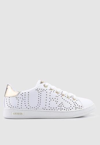Guess 白色 雕紋運動鞋 09079SHD4960B2GS_1