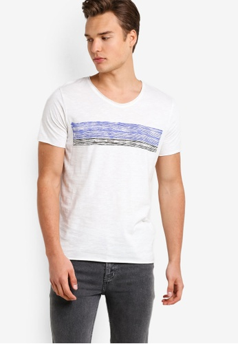 Selected Homme white Casual Short Sleeve Tee SE364AA77TOSMY_1