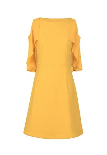Twenty Eight Shoes yellow VANSA Midi Dress  VCW-D20071 6C48FAAA7B409FGS_1