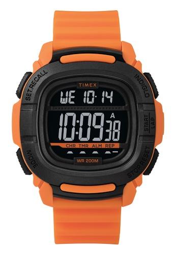 Timex black and orange Timex Command™ 47mm - Orange Case & Silicone Strap  (TW5M26500) 0DC73ACF192540GS_1