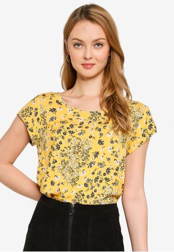 ONLY yellow Nova Life Short Sleeve Top 9A911AAB19ECB9GS_1