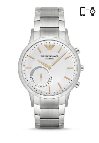 Emporio Armani silver Armani Renato Silver Smart Watch ART3005 AR024AC0S03EMY_1