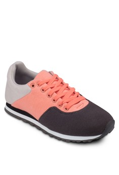 Colour Block Lace Up Sneakers