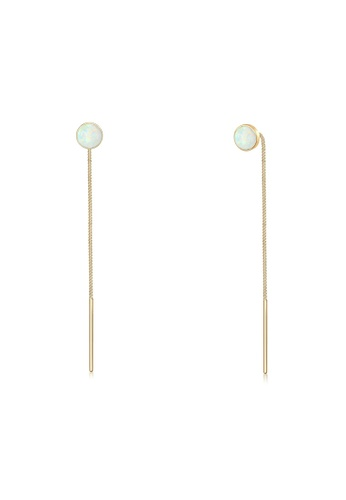 ELLI GERMANY gold Elli Germany Earrings Hanger Opal Trend Pull Through 925 Silver Plated 020A5AC0068D69GS_1