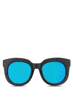 Men'S Round Mirrored Sunglasses