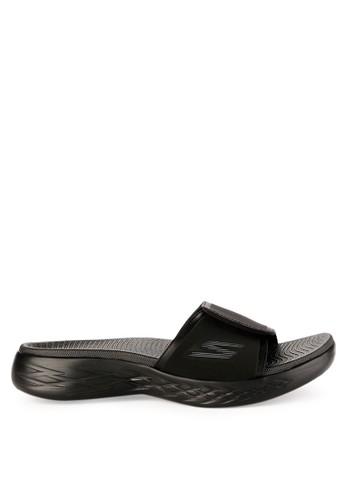 Skechers black On The Go 600 Sandal 5062BSHED13FF3GS_1
